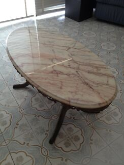 Brass/Marble Coffee Table