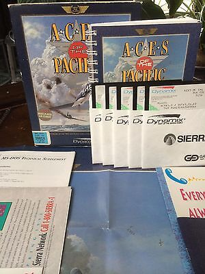 Aces Of The Pacific Pc Big Box Original Release Computer Game 5 25 Disc Dynamix