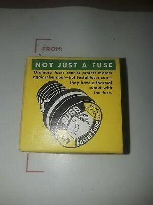 Nos Bussmann Buss Fustat Time Delay Fuses Type S 10 Box Of 4 Fuses