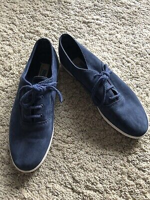 Keds Women's Suede Shoes/Trainers Size US 8.5/UK 6.5 Navy Blue Lace Up Vintage
