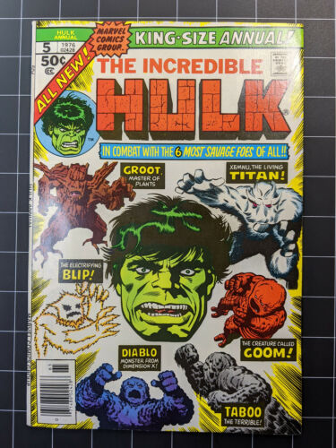 Hulk Annual #5 - Second appearance of GROOT - High Grade