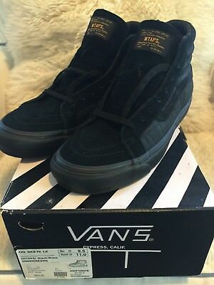 Vans Vault X WTAPS - OG Sk8 Hi LX - Black/Black - Size 9.5 - New In Box