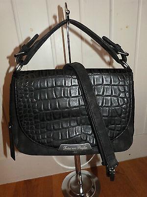 ✿Pre 2016✿Fritzi aus Preußen Handtasche Clutch Audrey Croco Black schwarz ()