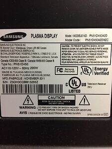 "51"" Samsung plasma needed for parts"