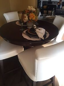Gorgeous espresso pub height dining table