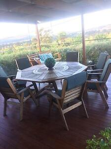 Timber octagonal outdoor setting Theodore Tuggeranong Preview