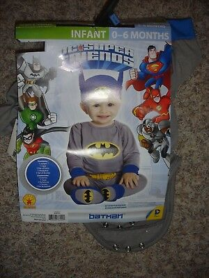 NEW DC Super Friends Batman Halloween Costume infant 0-6m months Rubies 887645