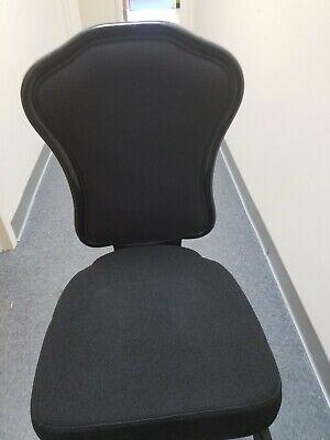 Infanti Jet Black Fabric Banquet Ballroom Chair
