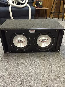 "Duel 10"" subs in box with amp"