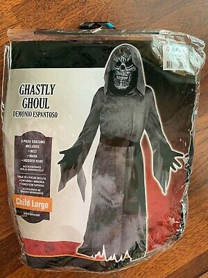 New Dark Ghastly Ghoul Scary Ghost Boy Child Holloween Costume Size Large