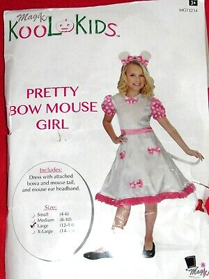 Magik Kool Kids Costume (Pretty Bow Mouse Girl) Halloween Or Dress Up Size - Kids Mouse Costume
