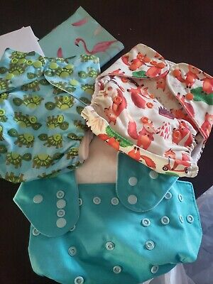 Lot Of 3 Cloth Diaper Covers
