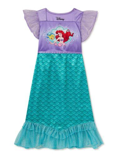 Disney The Little Mermaid Ariel Toddler Girl Princess Fantasy Nightgown Dress 2T