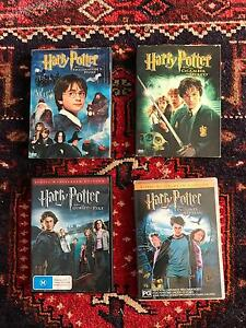 Harry Potter Trilogy 1-4, including collectors editions. City Beach Cambridge Area Preview