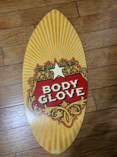 "Body Glove Slim Surf Maple Plywood 43.5"" x 19 3/4"" Water Skimboard Boogie Board"