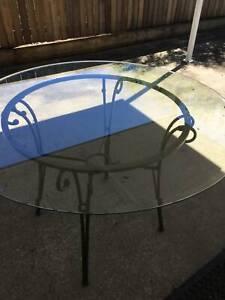 Glass top outdoor/indoor table