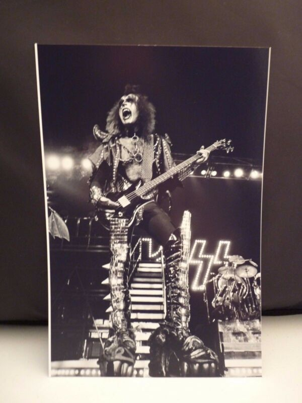 Kiss 1977 L.A. Forum Gene Simmons Live 8x12 Photo #10 From Original Negative