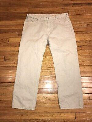 Orvis 5 Pocket Gray 100% Cotton Pants Mens 40x32