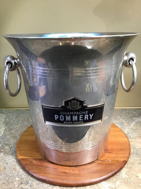 Vintage 1960s Pommery Champagne Ice Bucket Cooler made in Reims France Argit