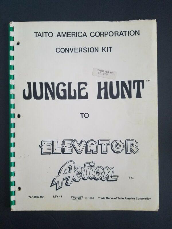 Original Taito JUNGLE HUNT to ELEVATOR ACTION Arcade Game CONVERSION KIT