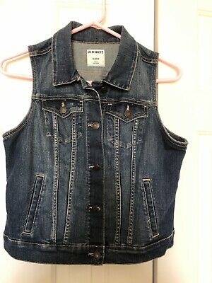 Old Navy Denim Jean Jacket Vest Size Med