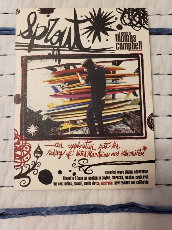 SPROUT DVD Rare Surf movie by Thomas Campbell Surfing Longboard Pre-owned
