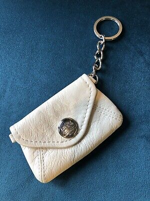 COACH Vintage Card Wallet Real Leather..Split Key Mini Skini