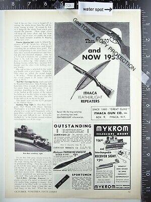 1953 Ithaca gun company Featherlight Repeater shotgun vintage advertisement ad