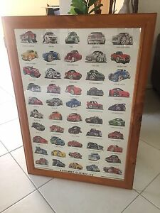 Cartoon muscle car framed poster Glenmore Park Penrith Area Preview