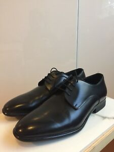 BRAND NEW ZARA MENS size 9.5/10 BLACK LEATHER DRESS SHOES