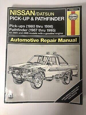 Haynes 72030 Nissan/Datsun Pick-up&Pathfinder 1980-1996 1987-1995 Repair Manual