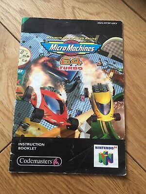 micro machines 64 Turbo Nintendo n64 manual