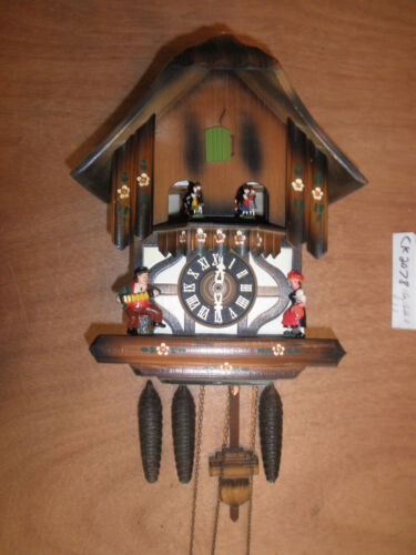 Cuckoo Clock German Black Forest working SEE VIDEO Musical Chalet 1 Day CK2078