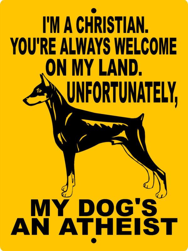 DOBERMAN PINSCHER  ALUMINUM SIGN VINYL DECAL DOG WARNING  MDAA1