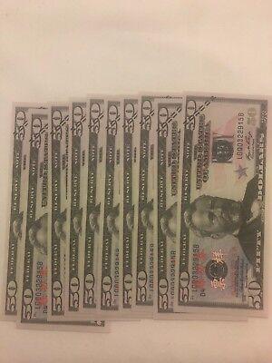 10 x 50s PROP MONEY New Style - Play Fake Prop Bills Movie Money Fake Money