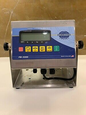 Fairbanks Scales Model Fb 2200-2 Weigh Meter Scale Indicator