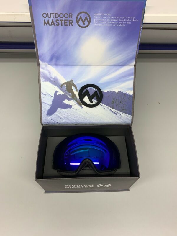 UNISEX Ski Snowboard Goggles PRO BLUE Frameless W/CASE YH110 OutdoorMaster NICE