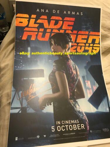 ANA DE ARMAS BLADE RUNNER 2049 JOI MOVIE POSTER SEXY SIGNED 12x18 REPRINT RP