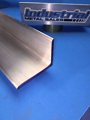 6061 T651 Aluminum Angle 3 X 4 X 12 Long X14 Thick 2 Pieces