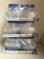 PLASTIC STORAGE CONTAINERS - NEW