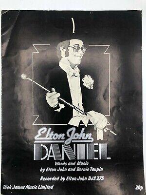 Daniel - Elton John - 1972 Sheet Music