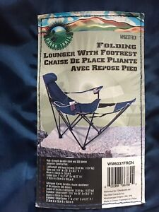 FOLDING  LOUNGER  WITH  FOOTREST  (New -  Never used)   $ 25.00