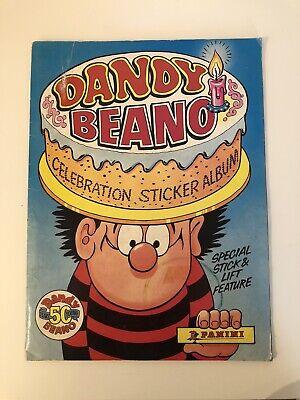 Panini Dandy Beano Celebration 100% COMPLETE Sticker Album Full RARE