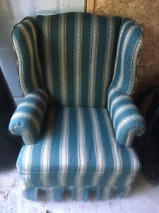 Library style high backed chair