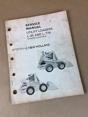 Original New Holland L-35 L-775 Skid Steer Loader Service Repair Manual Shop