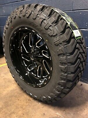 """20x10 Fuel D581 Triton 35"""" MT Wheel and Tire Package 8x170 Ford Super F250 F350"""