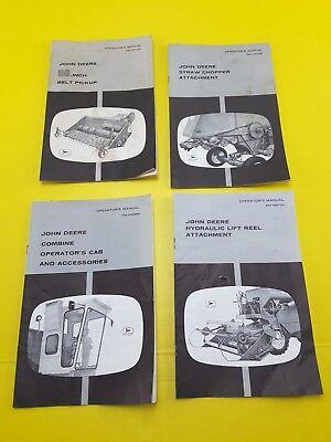 Vintage John Deere Model 45 Combine Operators Manuals Cab Chopper Pickup Reel