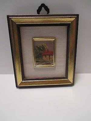 Matted Framed  print- Certificato Di Garanzia Miniature Stamp Size Art Picture