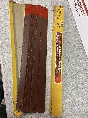 Simonds Red End Power Hacksaw Blades 17 1 14 6tpi Nos Usa Lot Of 12 Blades