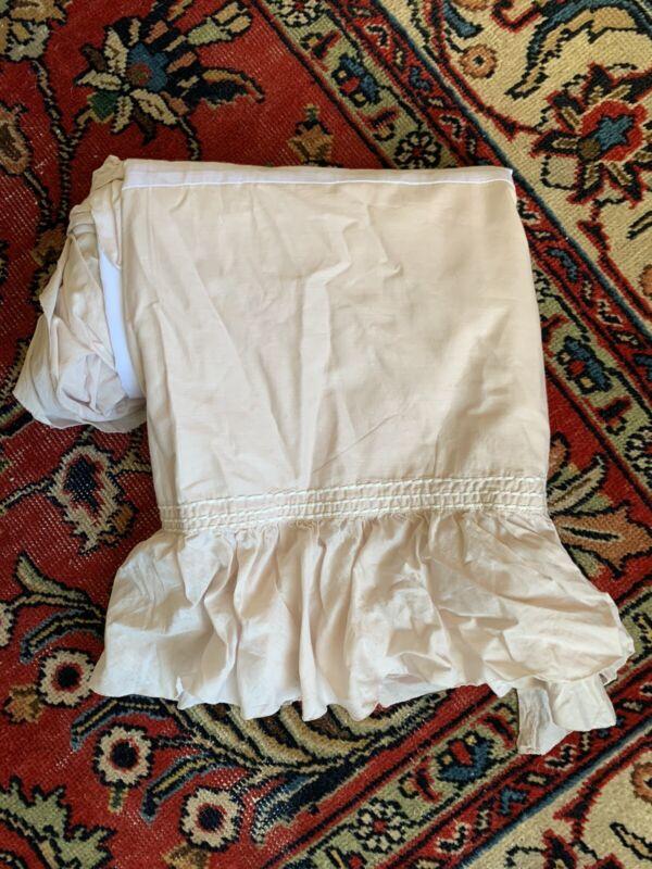 Restoration Hardware RH Baby & Child Ruffled Voile Crib Skirt Petal Pink Girl